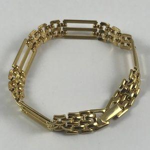 Vintage Gold Tone Tennis Bracelet